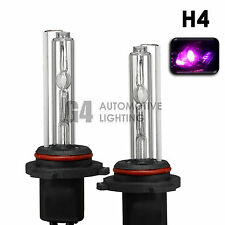 2X NEW HID XENON H4 9003 Headlight HID Bulbs AC 35W 12000K Pink Purple