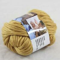 Sale1BallX50g Chunky Cotton Hand Knitting Smooth Special Thick Yarn Catania Gold
