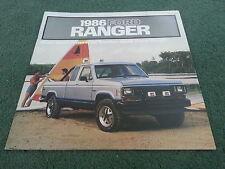 1986 FORD RANGER PICKUP USA BROCHURE - STD S STX XLT XL / REGULAR SUPER CAB