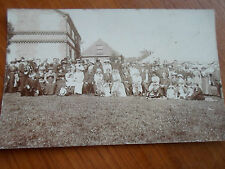 VERY OLD Wedding RP Postcard ~Large Group+Top Hats+Marquee+Vintage Fashions+