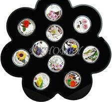 Poland 2011 silver 11 coins World of Flowers Blumen Feurs Fiori Kwiaty Świata