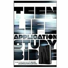 Teen Life Application Study Bible NLT Black/Gray Steel City LeatherLike Edition.