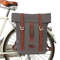 Tourbon Bike Panniers Rear Bag Cycling Backpack Travel Rucksack Durable Canvas
