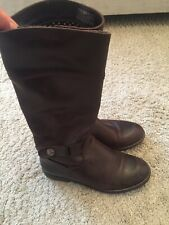 Tommy Hilfiger Women boots leather Brown UK 4
