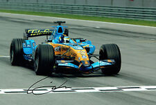 Giancarlo FISICHELLA SIGNED Autograph 12x8 RARE Renault ELF Photo AFTAL COA