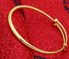 18k Gold Plated Adjustable Bangle Bracelet Express Your Love to Familie