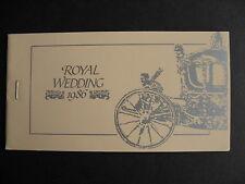 TUVALU NUKU FETAU 1986 royal wedding booklet with imperf stamps, interesting!
