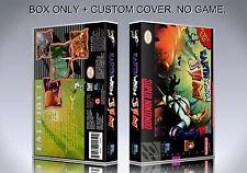 EARTHWORM JIM. Box/Case. Super Nintendo. BOX + COVER. (NO GAME).