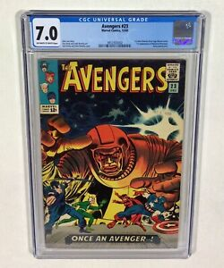 Avengers #23 CGC 7.0 KEY! (1st John Romita S.A. Marvel work!) 1965 Marvel Comics
