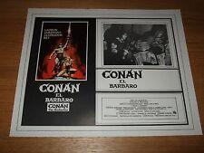 Original CONAN THE BARBARIAN Arnold Schwarzenegger Mexican Lobby Card 11x14