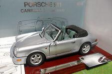PORSCHE 911 CARRERA 4 cabriolet Bleu gris 1/14 no 1/18 ANSON 30313 miniature