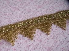 Gold Metallic Lace Trim, Sparkle Trim, Costumes, Burlesque, Fascinators, 2 YARDS
