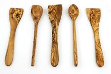 Tramanto Olive Wood Spatulas and Spoons Cooking Utensil Set, 12 inches