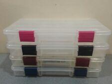Plano prolatch stowaway 3500 utility craft bead tool fishing tackle box set of 4
