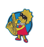 LISA SIMPSON Iron on / Sew on Patch Embroidered Badge Cartoon TV Kids PT137