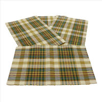 NWT Bronwyn Plaid Place Mats Set of 4 13x19 inches cotton