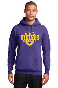 New Vikings Hoodie Purple and Yellow Adult and Youth Minnesota Hooded Sweatshirt