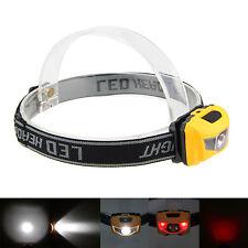 3X R4+2 RED LED 600LM Mini Head Torch Flashlight Hunting Headlamp Headlight AAA