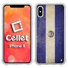 Vintage El Salvador County Flag on iPhone X Case