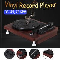 Vinyl 3 Speed Record Player USB Antique Gramophone Turntable Disc Audior