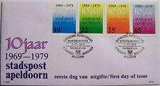 Stadspost Apeldoorn 1979 - FDC 10 jaar Stadspost Apeldoorn