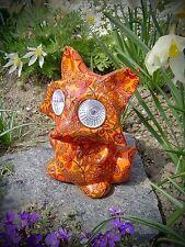 Solar Gartenleuchte Fuchs mit leuchtenden Augen 2 LED Solarlampe farbig 456