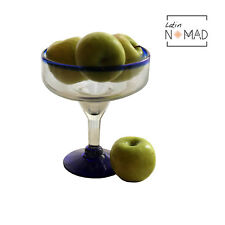 Jumbo Blue Rim Cocktail Glass / XL Margarita Glass 40 oz