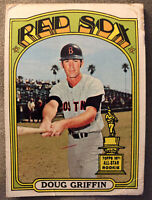 1972 Topps Doug Griffin Baseball Card #703 Red Sox Second Base Low Grade Poor