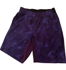 Lululemon mens shorts Size Large purple and black cloud pattern.