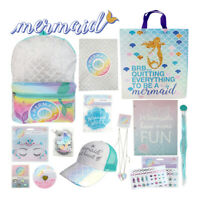 Mermaid Showbag Girls Gift Bag Backpack Cap Body Glitter Hair Extension Gift