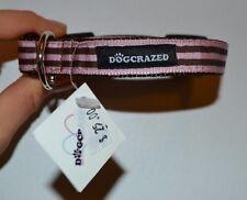 "Dog-Crazed Designer Nylon Dog Collar Size Small 3/4"" thick Adjustable 9"" to 13"""