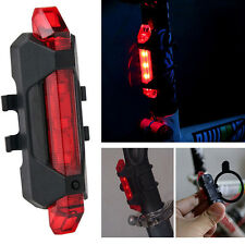 USB Rechargeable COB LED Bicycle Bike Cycling Front Rear Tail Light 4-Modes Lamp