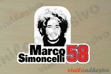PEGATINA STICKER VINILO Marco Simoncelli 58 ref2 autocollant aufkleber adesivi
