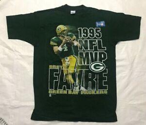 1995 NFL MVP Brett Favre Green Bay Packers T Shirt Size Large Salem Sportswear