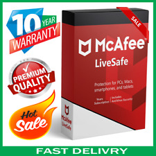 McAfee Livesafe 2020  🔥 5 Devices 10 Years Antivirus 🔥 Fast Delivεry📥