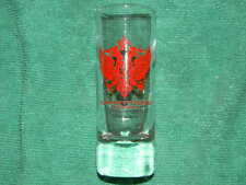 Treasures Of The Czars- shot glass- St. Petersburg, Florida- Red colored crest