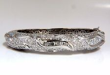 14.02ct natural diamonds eternity encrusted bangle bracelet 18kt