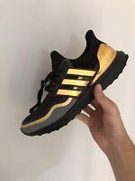 Adidas Ultra Boost Black Gold Metallic Medal Pack Mens Shoes EG8102 Size 11