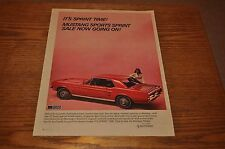 2 Vintage 1967 Ford Mustang Red Hardtop Magazine Ads - Free USA Shipping