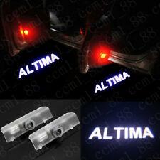 2x White Logo LED Door Courtesy Laser Projector Lights For Nissan Altima 2003-19