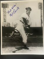 MEL PARNELL Autographed Signed 8 x 10 Vintage Photo Boston Red Sox Baseball