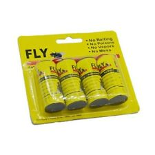 4 Rolls Insect Bug Fly Glue Paper Catcher Trap Ribbon Useful Sticky Flies Set