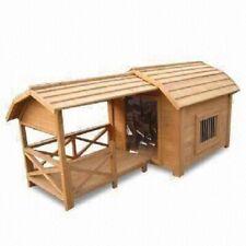 Hundehütte Hundehaus überdachte Terrasse Veranda Massiv Holz Tanne