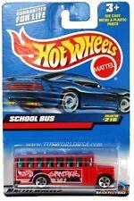 2000 Hot Wheels #216 School Bus '00 crd