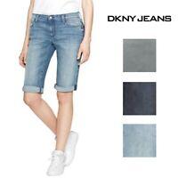 DKNY Jeans Womens Mid Rise Stretch Bermuda Short