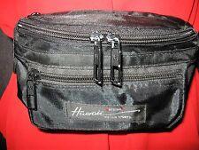 EUC HAWAII design VICTOR SPORTS black nylon 5 zip fanny pack waist belt bag