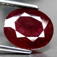 RARE 8x6mm OVAL-FACET DEEP RED/PURPLE NATURAL INDIAN RUBY GEMSTONE (APP £152)