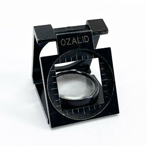 Vintage Ozalid Thread Counter Magnifying Glass Loupe - Folds Flat  <D115
