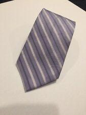 PIERRE CARDIN Silk Neck Tie Purple Lavender Stripes Striped Wide Necktie