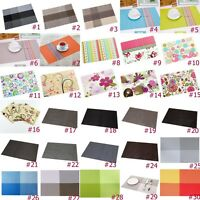 35 Colors PVC Waterproof Placemats Insulation Mat Coasters Dining Table Pad